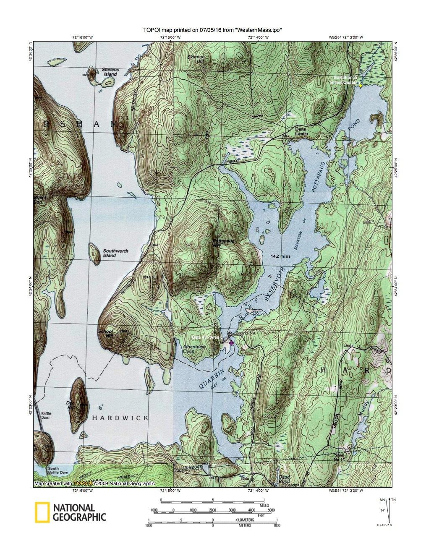 Quabbin Reservoir - Gate 43 - Area 3 - North Worce on